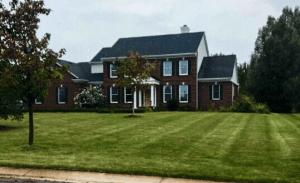 lawn freshly cut in Pittsfield Township, Michigan