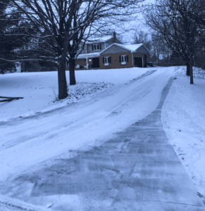 snow removed from driveway in Ann Arbor