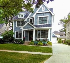 A birmingham, Michigan home with new landscaping