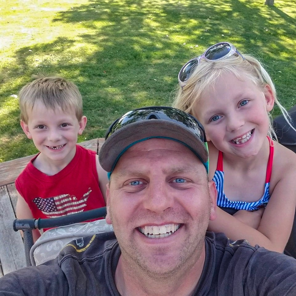 Snow Plowing Provider with his kids in the summer