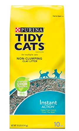 Purina kitty litter to help with tire traction control during a winter emergency