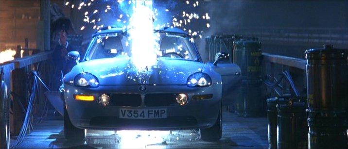 BMW Z8 that is Cut In Half in the James Bond Movie