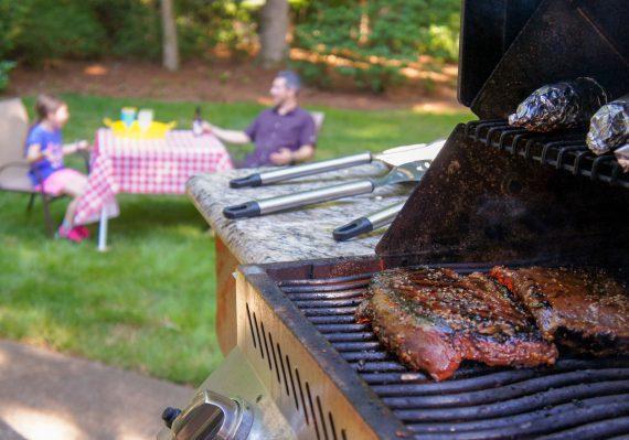 Family BBQ in the Backyard